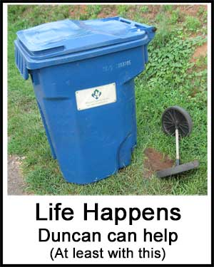 Town of Duncan, SC trash container