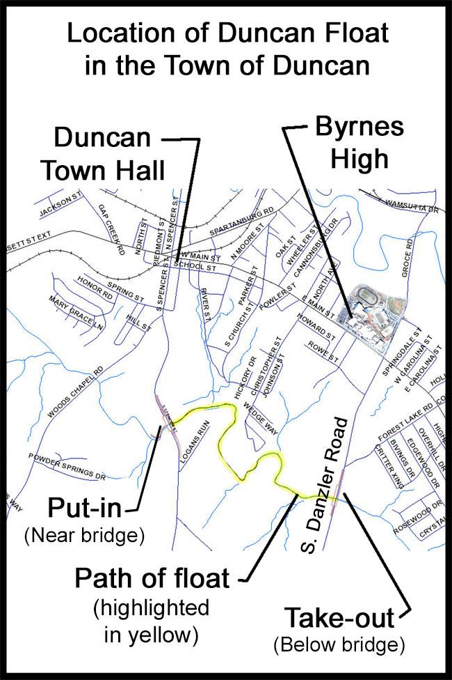 Location in Duncan SC